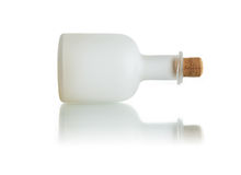 Empty Bottle On White Royalty Free Stock Images