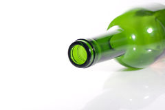 Empty Bottle of Wine Royalty Free Stock Photos
