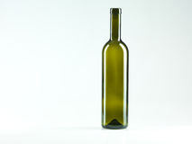 Empty bottle of wine, white background Stock Photos