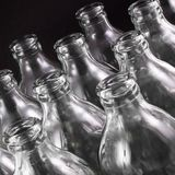 Empty bottles Stock Image