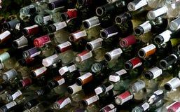 Empty bottles. LVIV, UKRAINE - AUGUST 25: Full Frame of empty bottles on August 25, 2011 in Lviv, Ukraine Stock Image