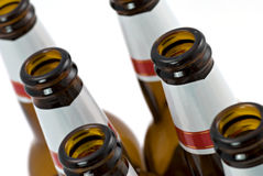Empty bottles of beer Stock Image