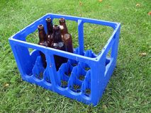 Empty bottles Stock Photo
