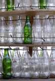 Empty bottles of Coca-Cola and Sprite Royalty Free Stock Photography