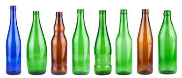 Empty bottles collection Royalty Free Stock Photography