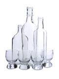Empty bottles five Royalty Free Stock Image