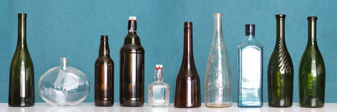 Empty bottles Royalty Free Stock Photo