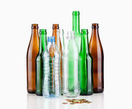 Empty bottles Stock Photos