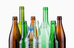 Empty bottles Stock Images
