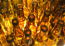 Empty bottles, the top view Royalty Free Stock Photo