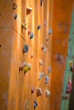 Empty bouldering wall Stock Images