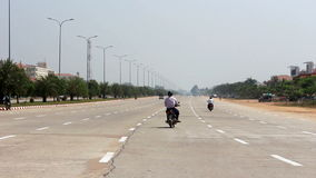 Empty Boulevard Traffic 2 stock video footage