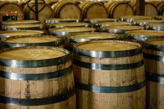 Free Empty Bourbon Barrels Await Filling Stock Image - 162785861