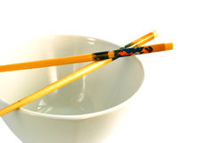 Empty Bowl. An empty chinese bowl with chopsticks Stock Images