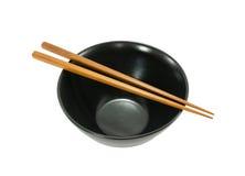 Empty bowl and chopsticks Stock Image