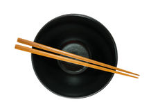 Empty bowl and chopsticks Royalty Free Stock Photography