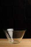 Empty bowl glass Royalty Free Stock Image