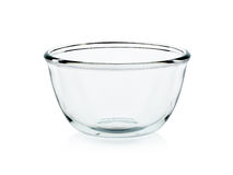 Empty bowl glass isolated on the white background Royalty Free Stock Photography