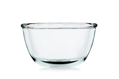 Empty bowl glass isolated on the white background Royalty Free Stock Images