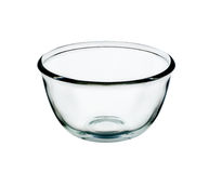 Empty bowl glass isolated on the white background Stock Photos