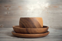 Empty bowl with hot smoke Royalty Free Stock Photo