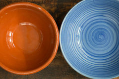 Empty bowl for the kitchen. On a wooden background Stock Photo