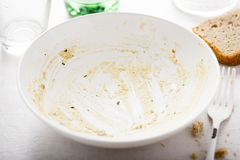 Empty bowl after meal Royalty Free Stock Images
