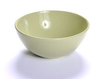 Empty bowl over white Stock Photo