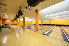 Empty bowling club Royalty Free Stock Photos