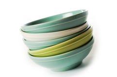 Empty bowls Stock Photos