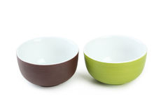 Empty bowls Stock Photo