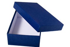 Empty box. Present box with top cover opened and at the side Royalty Free Stock Photos