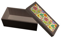 Empty Box with Flowers_Raster Royalty Free Stock Image