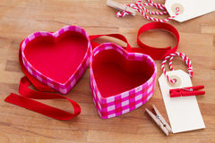 Empty box in heart shape Stock Image