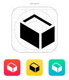 Empty box icon. Vector illustration royalty free illustration