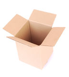 Box empty open on white Royalty Free Stock Photography