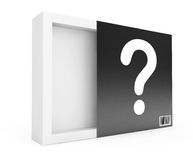 Empty Box with Question Mark Royalty Free Stock Photo