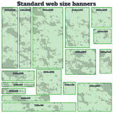 Empty box standard size web banners blank set. Royalty Free Stock Photography