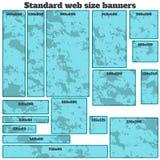 Empty box standard size web banners blank set. Royalty Free Stock Photos