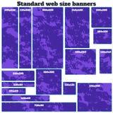 Empty box standard size web banners blank set. Royalty Free Stock Photo