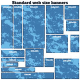 Empty box standard size web banners blank set. Royalty Free Stock Image