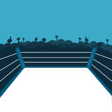 Empty boxing ring. Vector illustration Royalty Free Stock Image