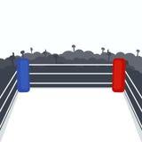 Empty boxing ring. Vector illustration vector illustration