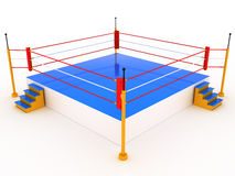 Empty boxing ring #1. Empty boxing ring on white background #1 Royalty Free Stock Photography