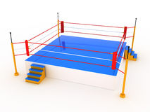 Empty boxing ring  #3 Stock Photography