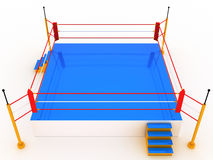 Empty boxing ring 3 Royalty Free Stock Photo