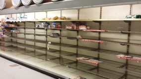 Empty Bread Shelves Stock Photo