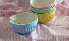 Empty Breakfast Bowl Stock Images