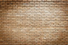 Empty brick wall with copy space. Vintage effect filter stock photography