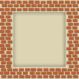 Empty brick wall frame Royalty Free Stock Photography